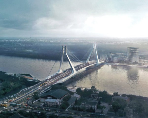 south of the city New Budapest Bridge by UNStudio