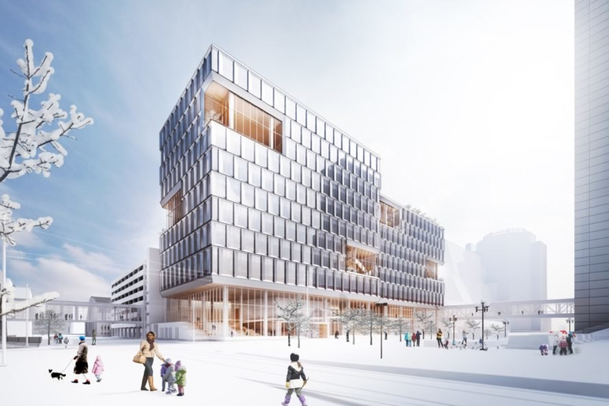 exterior view of New Public Service Building by Henning Larsen Architects and MSR