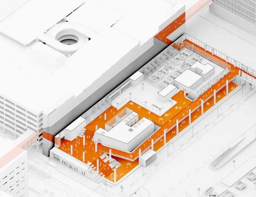 diagram of New Public Service Building by Henning Larsen Architects and MSR