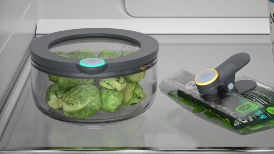 Brussels sprouts inside an Ovie Smarterware container