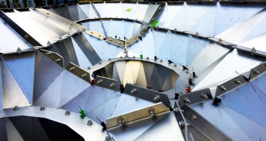 3 millimeter thick steel panels Photopsis by Orproject