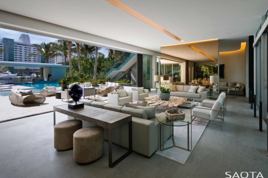 living room Pine Tree Residence by SAOTA