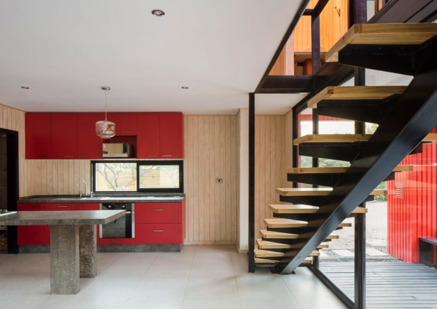 interior with floating staircase