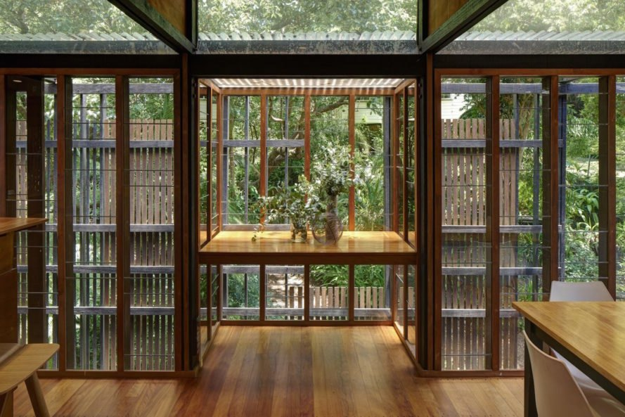 library living room Rosebery House by Andresen O'Gorman Architects