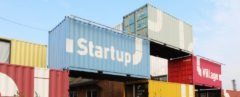 Brightly colored shipping containers stacked on top of each other