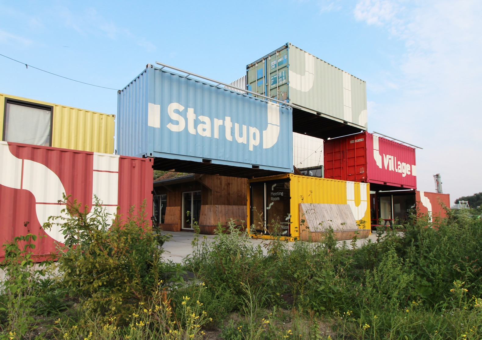 Shipping container village for startups pops up in Amsterdam