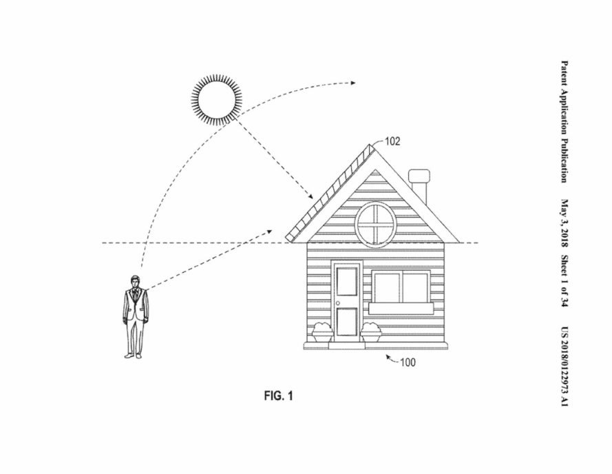 Tesla solar roof patent illustration
