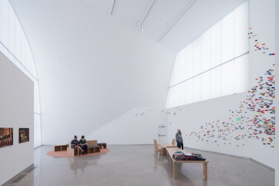 gallery space The Markel Center by Steven Holl Architects