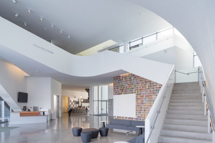 light-filled lobby The Markel Center by Steven Holl Architects