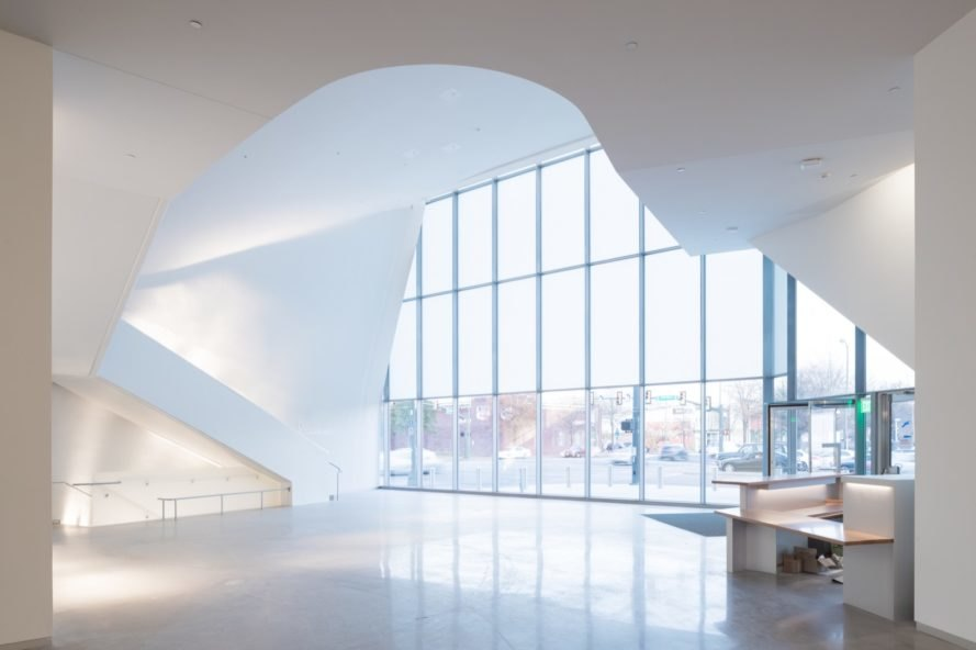 glass wall The Markel Center by Steven Holl Architects