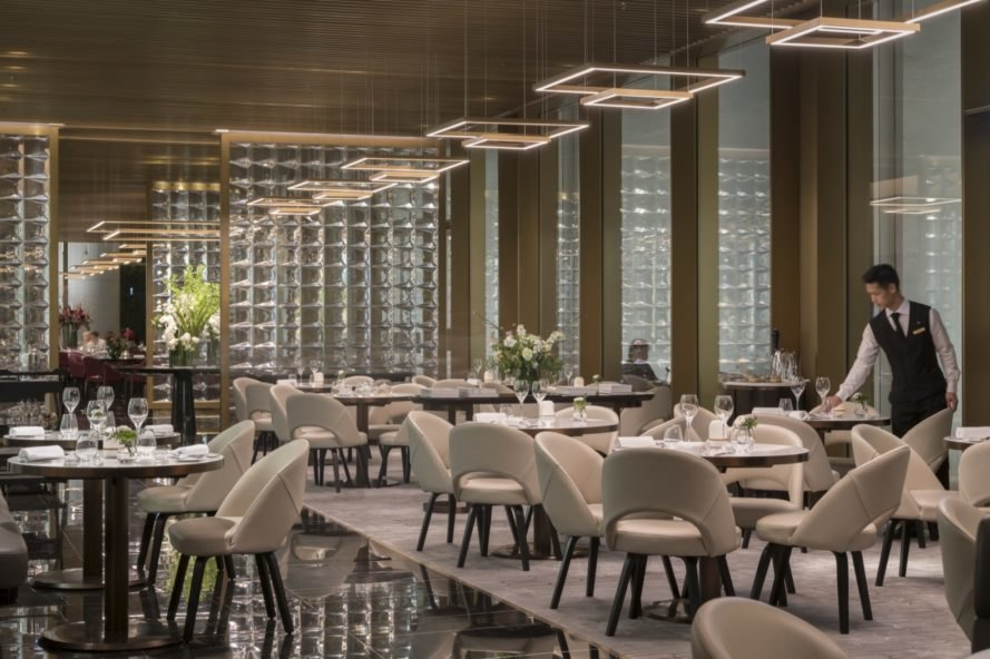 dining rooms in former car park The Murray by Foster + Partners