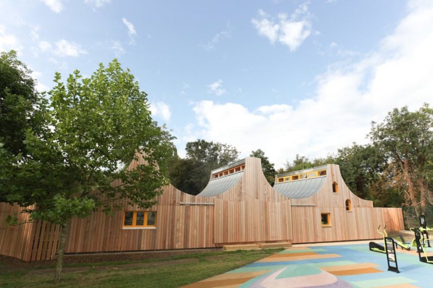 exterior The Wooden Classroom by Studio Weave
