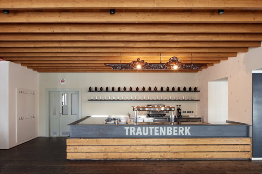 Trautenberk sign on bar area