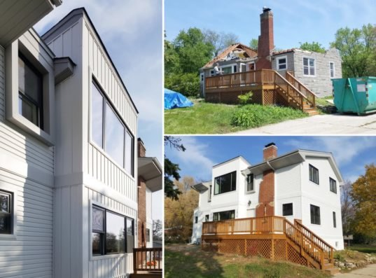 A 1940s home gets an energy efficient renovation for 250k for Building a house for 250k
