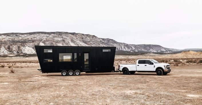 This bold ship-inspired tiny house has a surprising minimalist interior