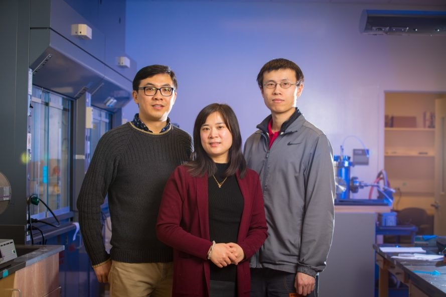 The University at Buffalo research team behind the water purification device
