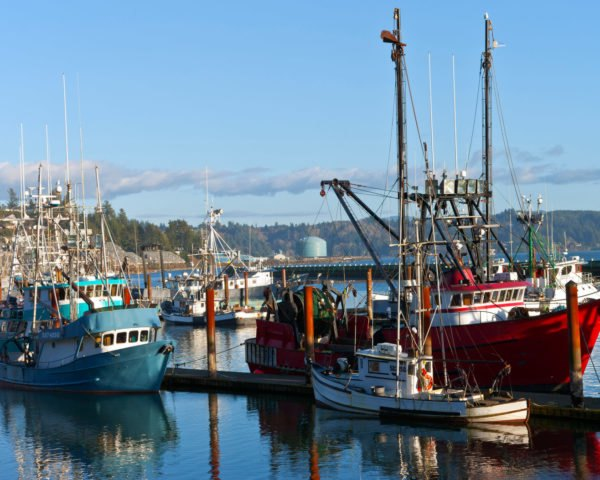 Fishing boats in Oregon