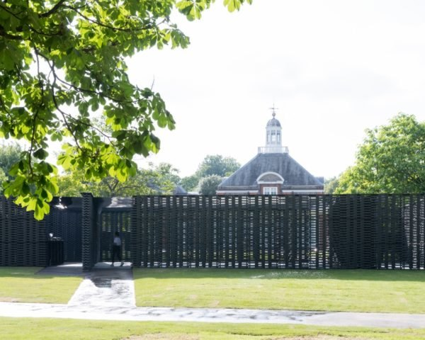 exterior of the serpentine gallery and pavilion