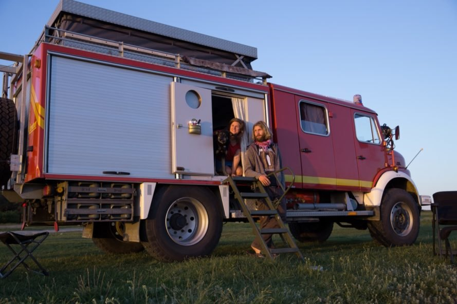 Couple transforms a fire truck into a cozy camper for ... on barns turned to homes, small shed homes, metal building homes,