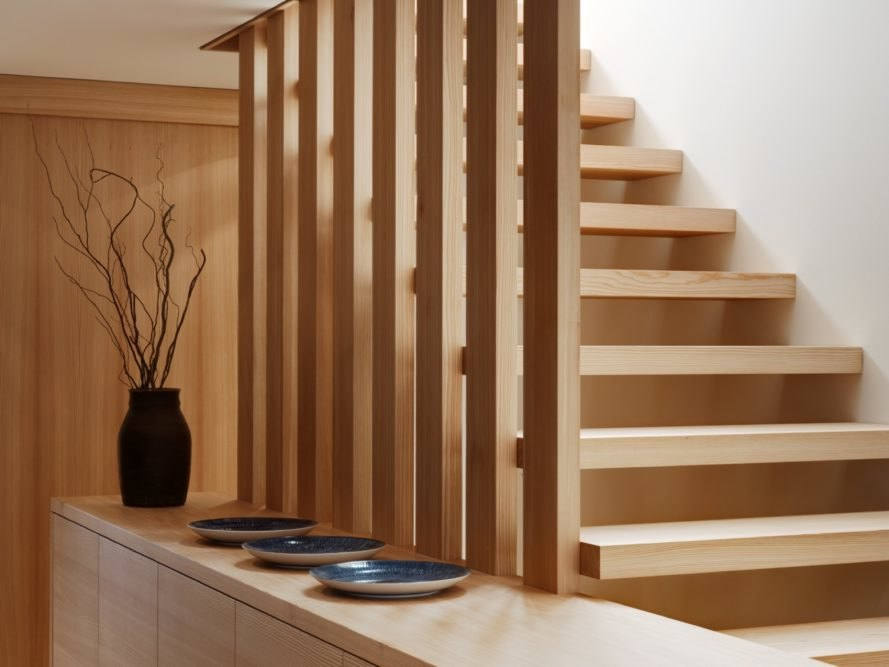 solid larch staircase
