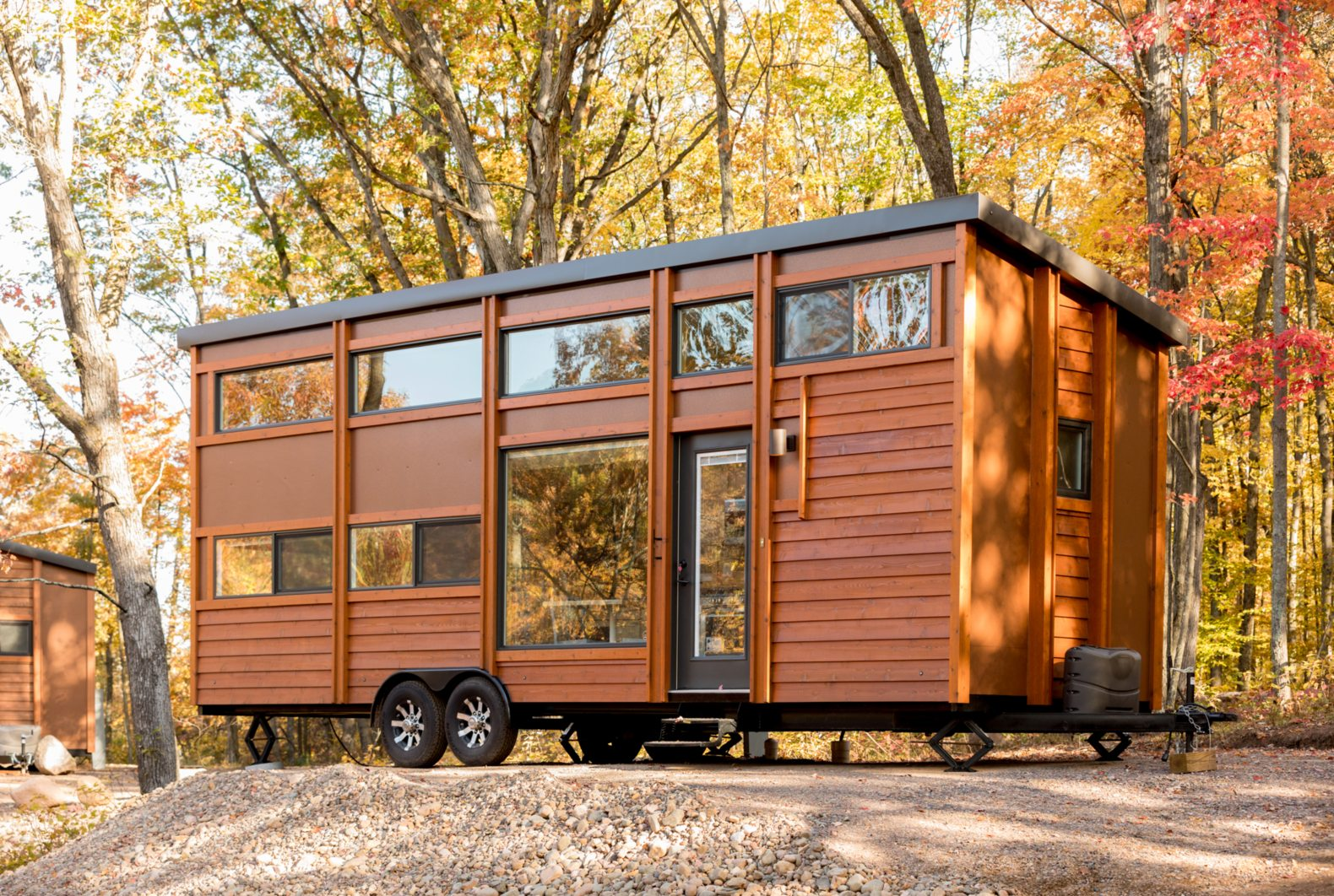 Tiny home resort opens in idyllic forest setting in Wisconsin