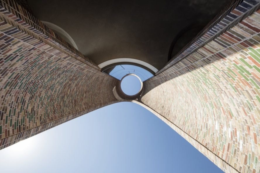 circular opening in the building