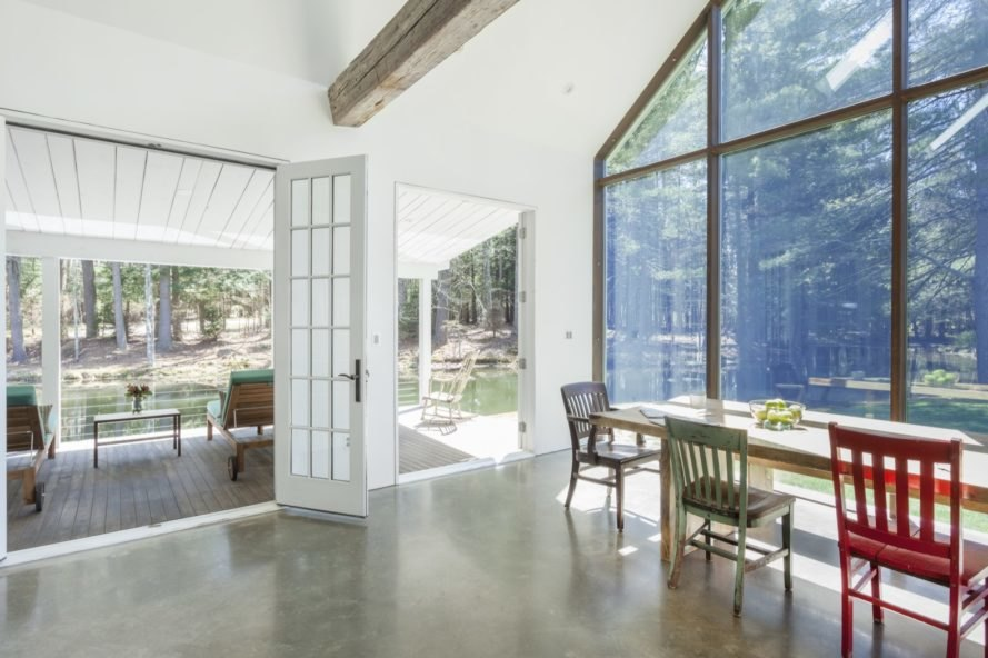 french doors to veranda