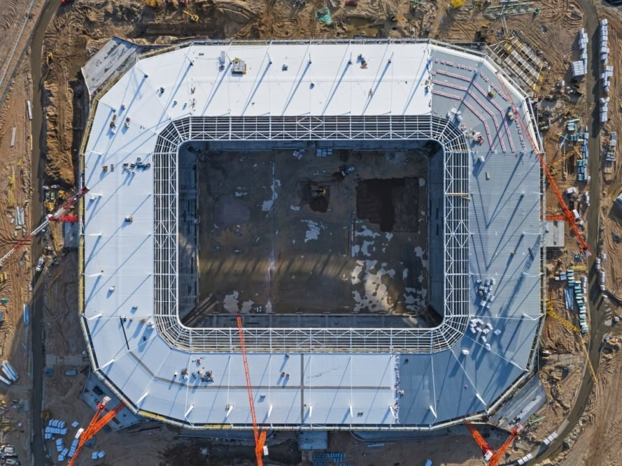 World Cup Kaliningrad Stadium from above