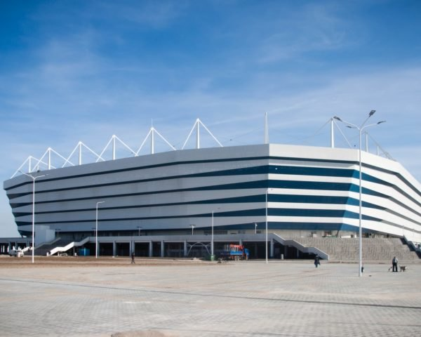World Cup Kaliningrad Stadium in Russia on a sunny day