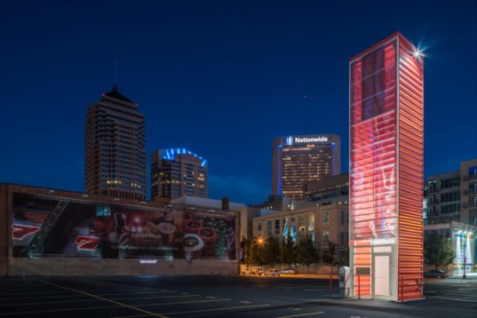 Old shipping container repurposed as a 40 foot tall for Tall shipping container