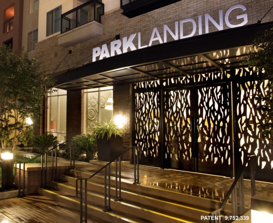 Park Landing sign and entrance