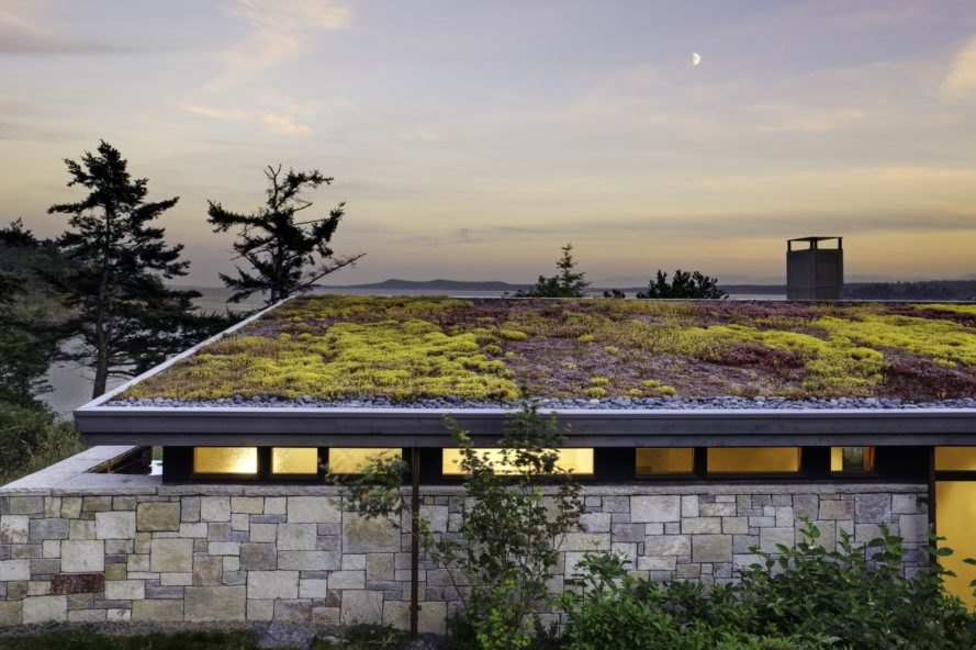 Green Roofed Modern House Embraces Old Growth Trees In The San Juan - Contemporary-house-architecture-to-get-surroundings-of-nature