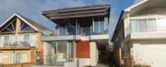 Modern home with glass facade