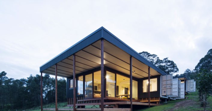 Architect turns four shipping containers into an affordable and