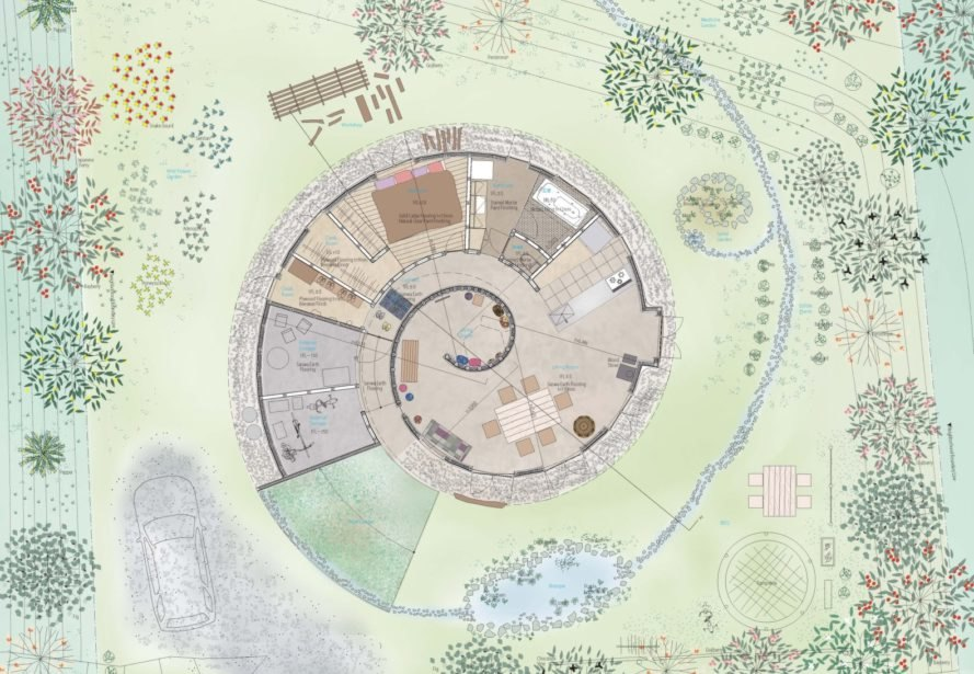 rendering of round home design