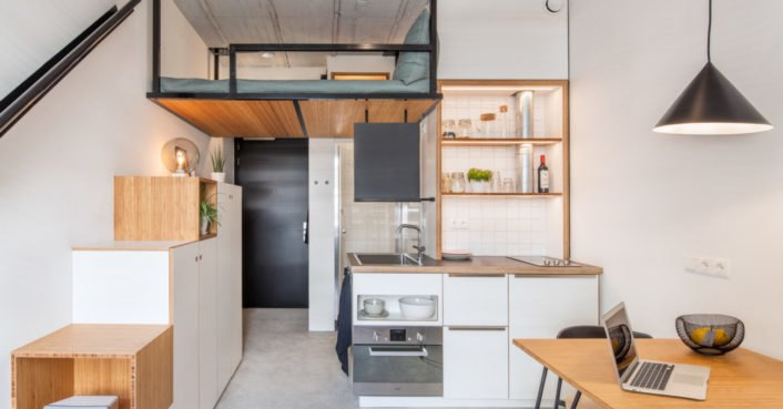 These stunning student housing apartments are inspired by tiny