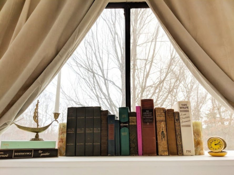 window with books