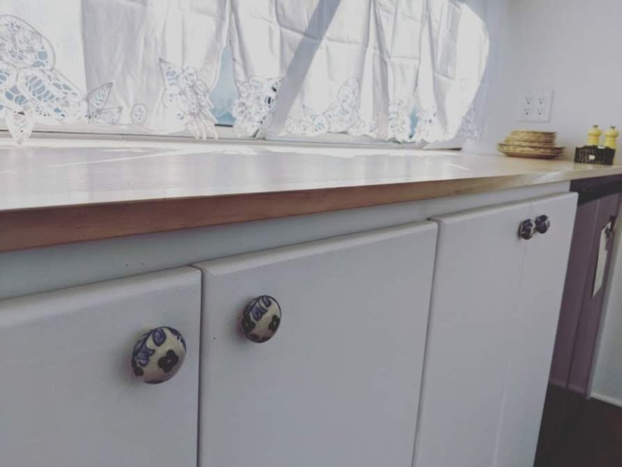 upclose photo of kitchen cupboard doors