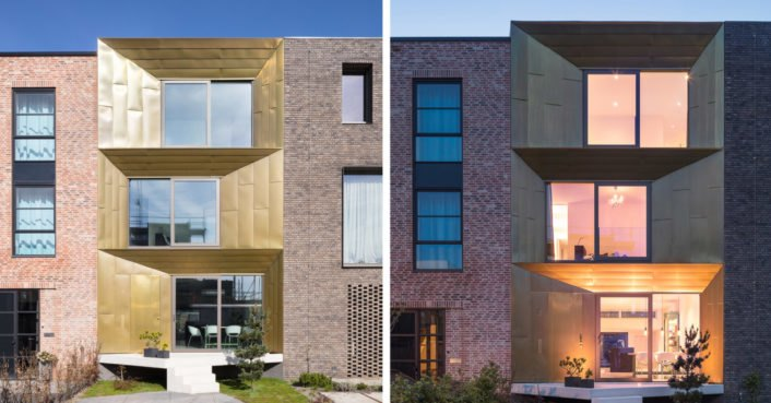 photo image Gleaming, recyclable facade clads a solar-powered Dutch house