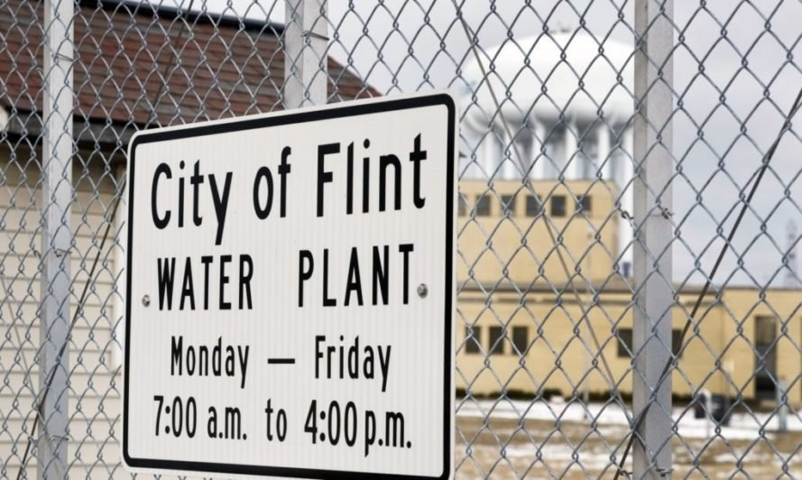 City of Flint Water Plant sign