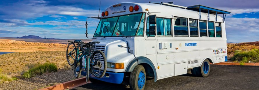 Couple convert old bus into solar-powered tiny home on wheels