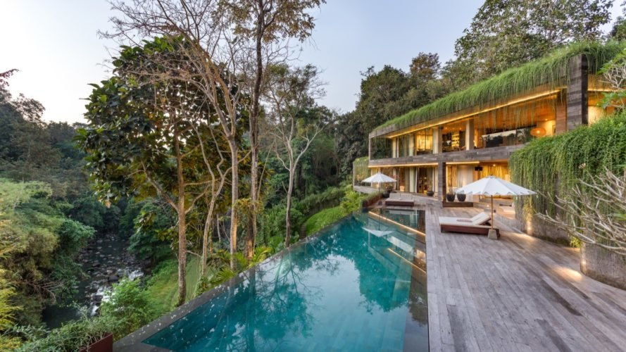Lush Green Roof Camouflages Chameleon Villa Into