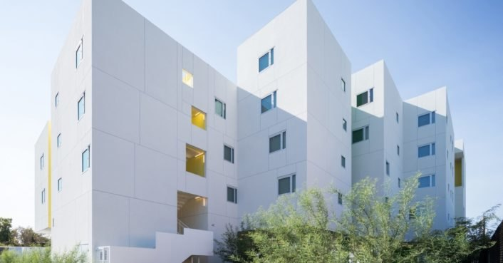 photo image LEED Platinum housing for the homeless takes over a formerly vacant L.A. lot