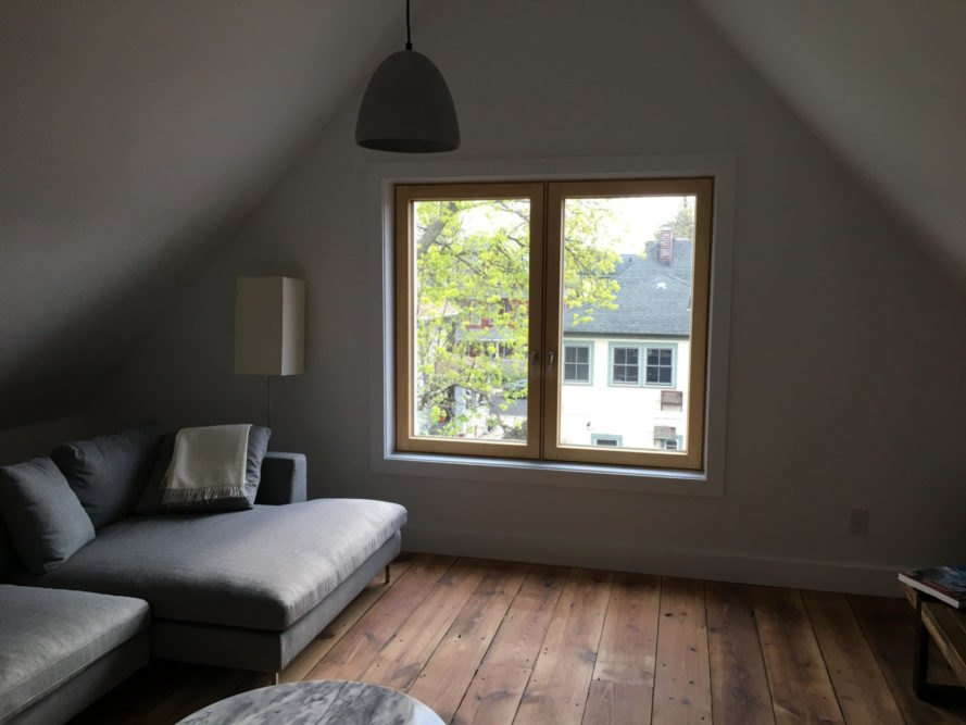 attic sitting room with window