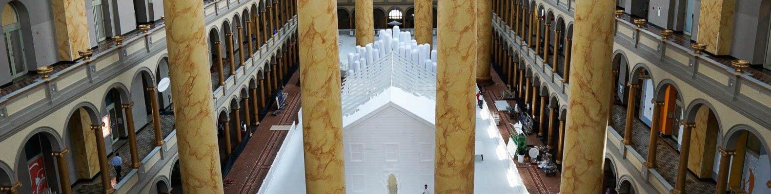fun house exhibit in great hall of national building museum