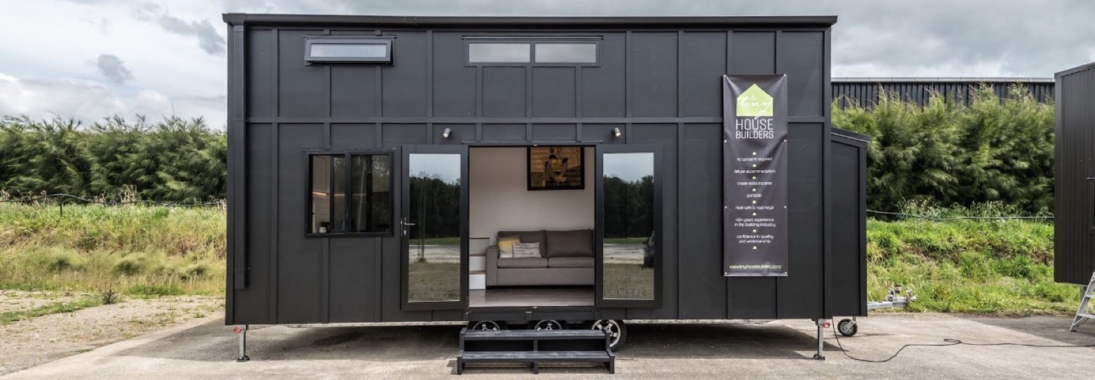 The luxurious Pohutukawa tiny home on wheels lets you live large in style