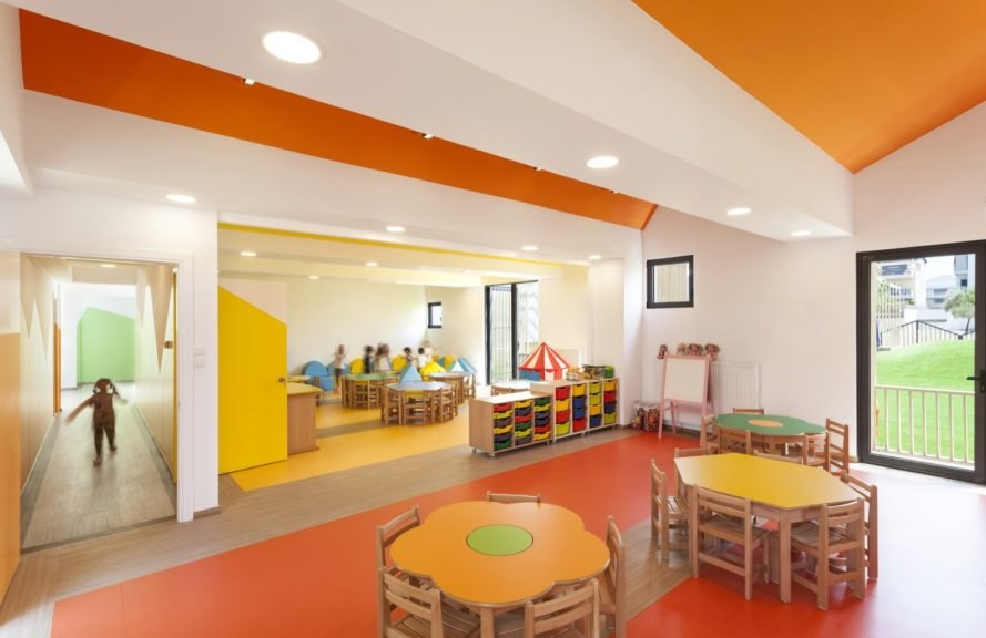 colorful classroom interior