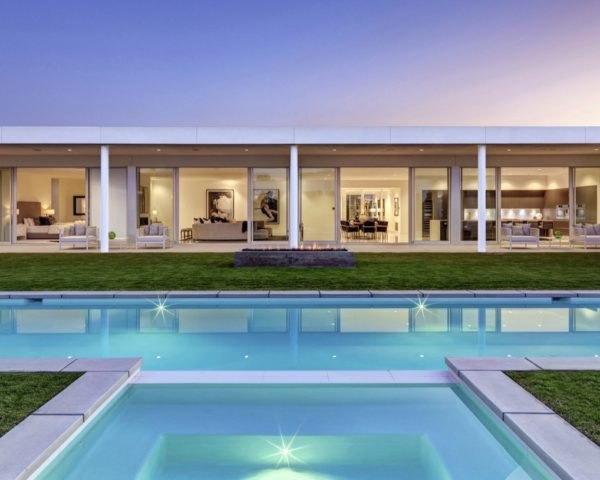 house exterior and pool