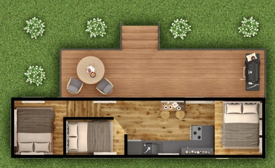 layout of tiny home design