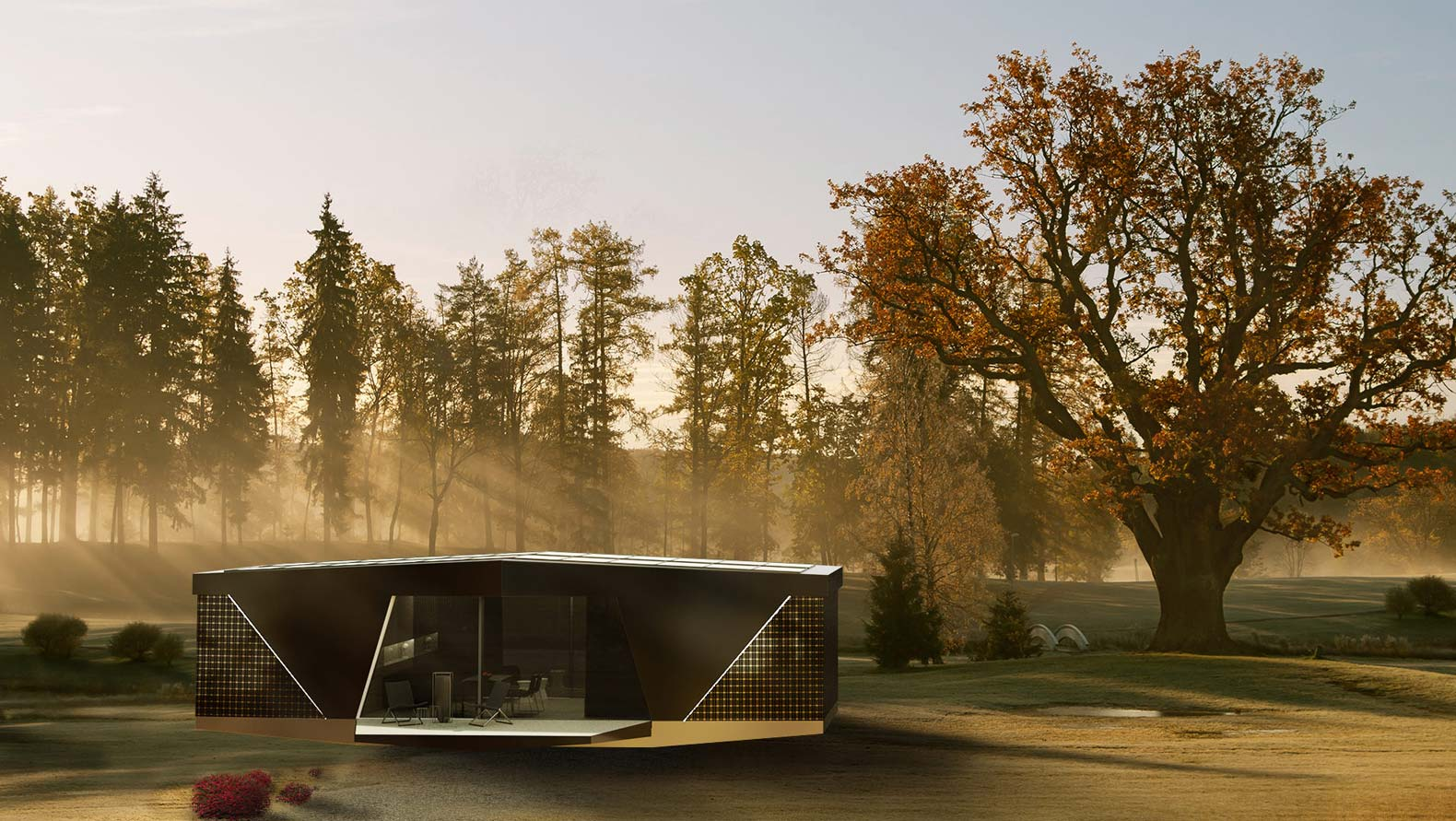 The SPACE pod from IO House lets you go off-grid in style